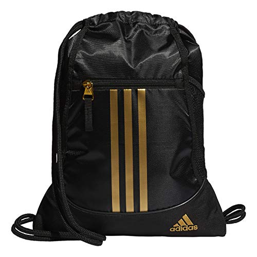 adidas Unisex Alliance II Sackpack, Black/Gold, ONE SIZE