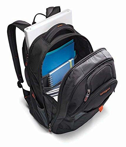Samsonite Tectonic 2 Large Backpack, Black/Orange, 18 x 13.3 x 8.6