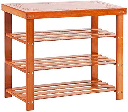 YLCJ 80 cm brede schoenenkast, kruk, opbergkast van hout, gemonteerd, stofdicht, frame van natuurlijk bamboe, stabiel voor huis en bedrijf (afmetingen: 80 x 28 x 45 cm)