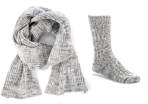 BIRKENSTOCK X-mas Bling Gift Box Scarf & Socks W Gray White