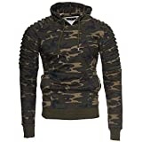 Kayhan Herren Hoodie New York, Camouflage/Grüntöne(XL)