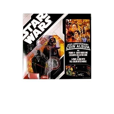 "Hasbro Star Wars Coin Album and Darth Vader Figure 3 3/4"""