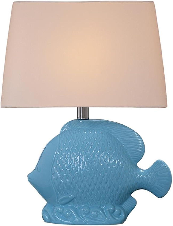 Blaue Fisch Keramik Tischlampe Kinder Schlafzimmer Nachttisch Lampe Wohnzimmer Tischlampe B07DFG3KMP     | Sofortige Lieferung