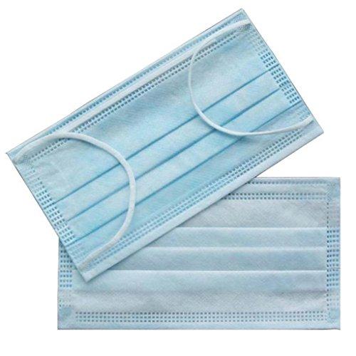 300 PC (6 BX) 3-Ply Blue Commercial Dental Medical Disposable Earloop Face Masks FDA Registered Approved