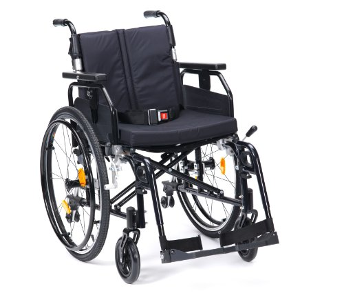 Drive Medical Enigma Super Deluxe SD2SP22BLK Rollstuhl mit Selbstantrieb, 22Zoll (ca. 56cm)