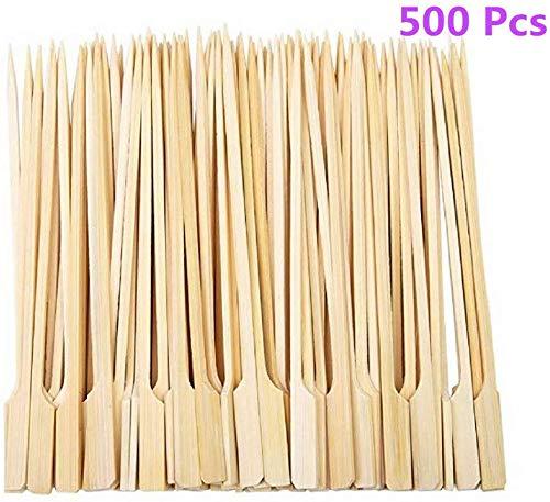 Diligencer 500 Stücke Bambus Paddel Spieße Natürliche Holzstäbchen für Barbecue Cocktail Kaffee Picknicks Im Freien Garten Buffets Catering Party Bar (25 cm)