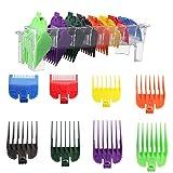 Set di 8 pettini colorati per macchina da tosatura, pettini a incastro professionali, pettine di ricambio Guide Combs da 1,5 a 25 mm