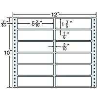 東洋印刷 タックフォームラベル 12インチ ×10インチ 12面付(1ケース500折) MX12F