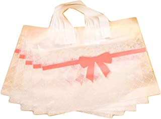 50 Pcs Clear Plastic Gift Bags Merchandise Bags Retail Clothing Grocery Boutique Bags