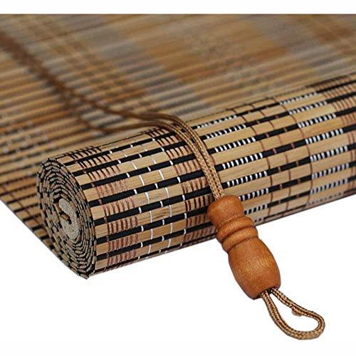 Rolgordijnen Bamboe Rolgordijnen, Blackout Zon Blind Verticale verduisteringsgordijnen Japanse stijl Zonnescherm, breedte 45cm / 60cm / 65cm vouwgordijnen,45 * 200cm