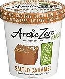 Arctic Zero Salted Caramel Ice Cream, 16 Fluid Ounce -- 8 per case.