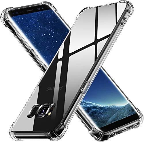 ivoler Funda para Samsung Galaxy S8, Carcasa Protectora Antigolpes Transparente con Cojín Esquina Parachoques, Suave TPU Silicona Caso Delgada Anti-Choques Case
