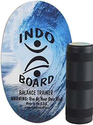 "INDO BOARD Original - Balance Board for Fun, Fitness and Sports Training - Comes with 30"" X 18"" Non-Slip Deck and a 6..."