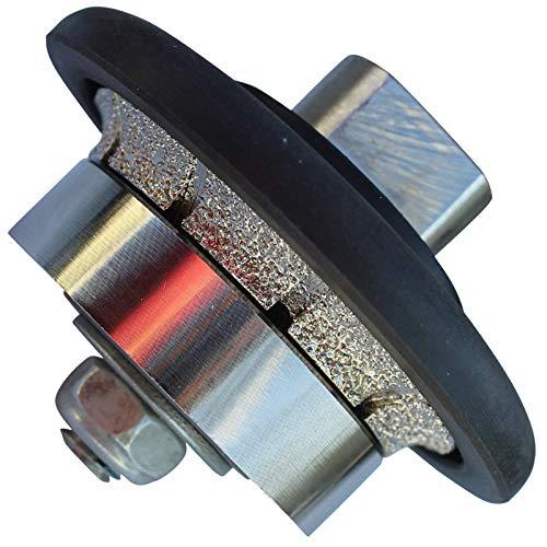 Stadea 3/16' Diamond Hand Profiler Profile Wheel Demi - Half Bullnose B5 Grinding Bit for Granite Stone Concrete Countertop Edges