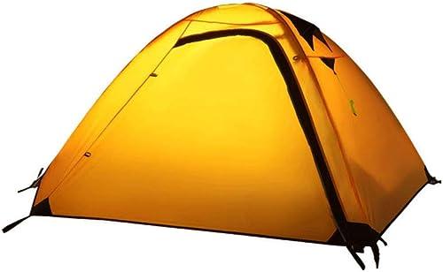 YMJJ Double Tente extérieure, Tente de randonnée de Camping,jaune