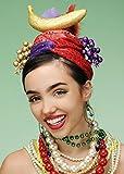 Struts Fancy Dress Carmen Miranda Glitter Showgirl-Obst-Hut