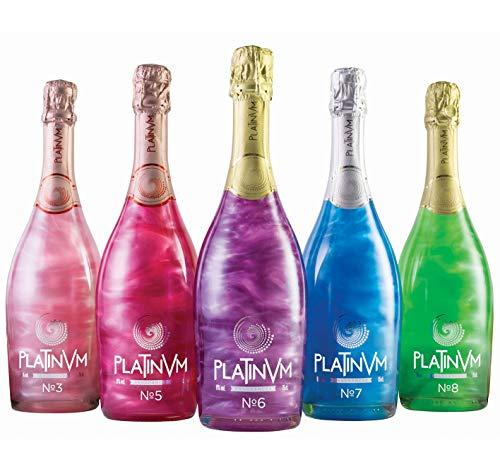 Pack vinos espumosos Platinvm 75cl- ideal Navidad, cumpleaños, carnaval, Halloween, fiesta, celebración, boda, brindis