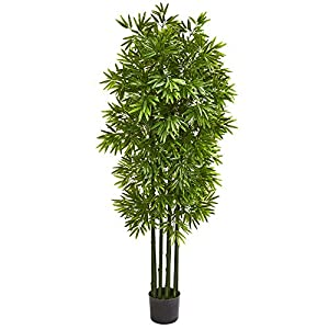 """Nearly Natural 64"""" Bamboo Artificial Green Trunks UV Resistant (Indoor/Outdoor) Silk Trees"""