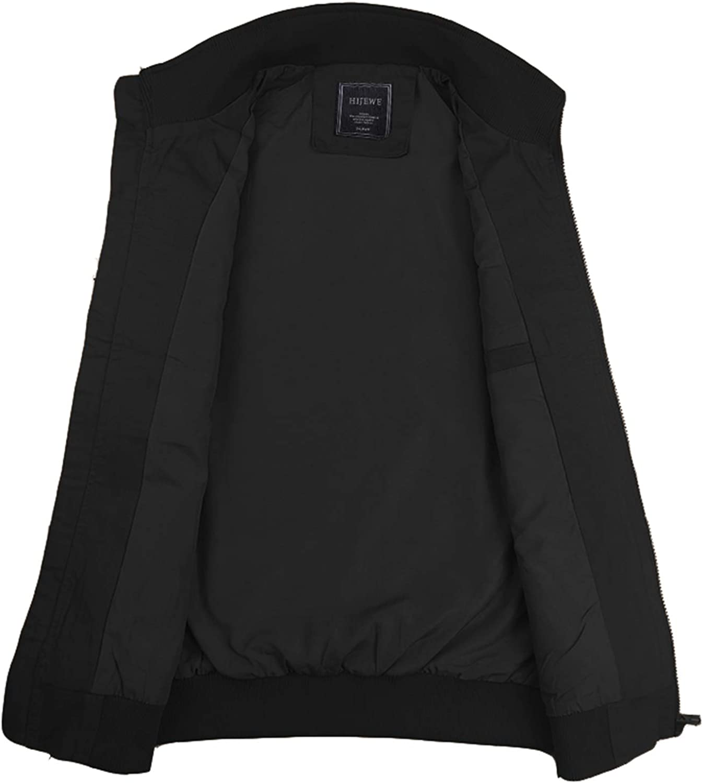 HIJEWE Men's Military Jacket Outdoor Lightweight Cotton Casual Bomber Coat