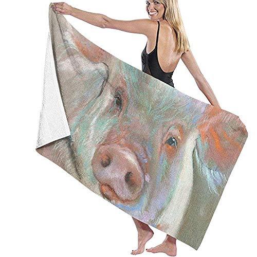 Badlaken Licht Roze Varken Prints Womens Spa Douche Badjas Cover Up Zwembad Handdoeken Bad Handdoeken Strand Handdoeken