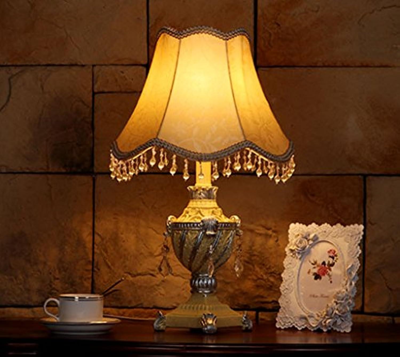 MENA Home- Europische Retro-Wohnzimmer Schlafzimmer Bett gemütlich eingerichtete Lampe Klassische Harz (Farbe   Wei)