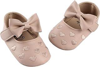 DEBAIJIA Bebé Niña Zapato de Princesa con Cinta Mágica para 6-18 Meses Niños Primeros Pasos Zapatos de Cuero con Lazo Casu...