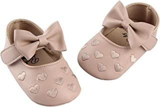 1c34ce7c45 DEBAIJIA Bebé Niña Zapato de Princesa con Cinta Mágica para 6-18 Meses  Niños Primeros