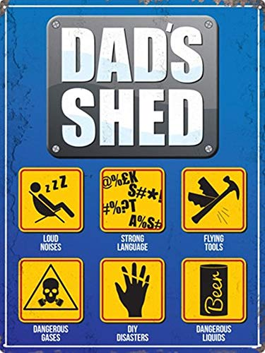 None Branded Dad's Shed Tin Sign Metal Retro Painted Art Poster Decoration Warning Plaque Home Cafe 8x12 Inch
