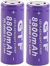 3.7V 26650 batterij 8800mAh Lithium ion oplaadbare batterij voor LED zaklamp Lithium ion batterij opslag batterij-2 stks