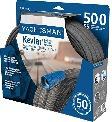 Bond Manufacturing 71907 50-ft Yachtsman Heavy Duty Fabric Hose, Gray