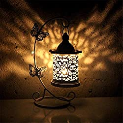 milkcha 4th of July Home Decor, Candlestick Holders Butterfly Hook Candlestick Table Lamp Wedding/Dining Decor, for Home & Garden