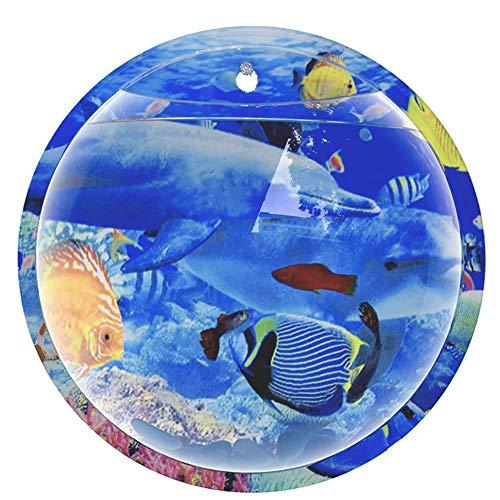 HUAIHUA Wand Wasser Garten, Acryl Fisch Schüssel Wandbehang Aquarium Aquatic Pet Supplies-Delfin_20 cm