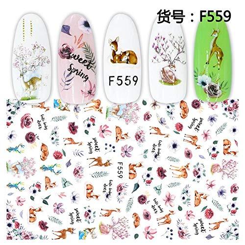 BLOUR 1 Hoja Kawaii Animal Dibujos Animados Pavo Real Cerdo Pato Pollito Gato Mariposa crayón Shin-Chan Adhesivo para uñas Pegatinas Decorativas F #