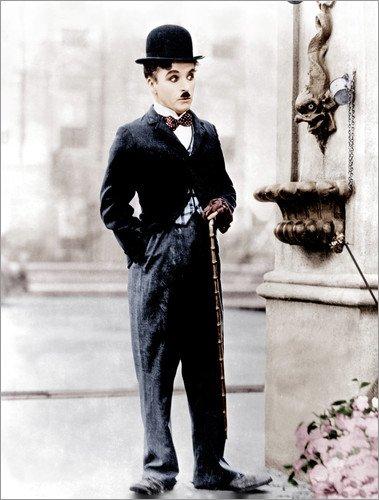 Posterlounge Lienzo 50 x 70 cm: Charlie Chaplin de Everett Collection - Cuadro Terminado, Cuadro sobre Bastidor, lámina terminada sobre Lienzo auténtico, impresión en Lienzo