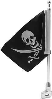 KESOTO Asta de Bandera de Metal con Bandera Soporte para Equipaje Trasero de Motocicleta con Bandera EE UU.