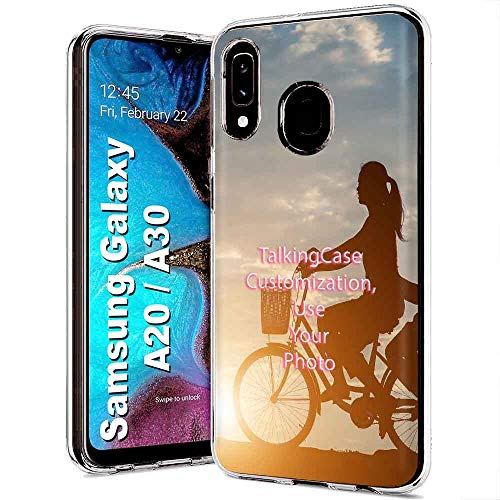 TalkingCase Personalize Custom Clear Thin Gel Phone Case for Samsung Galaxy A10E,SM-A102U,Your Picture,Light Weight,Ultra Flexible,Soft Touch,Anti-Scratch,Designed in USA