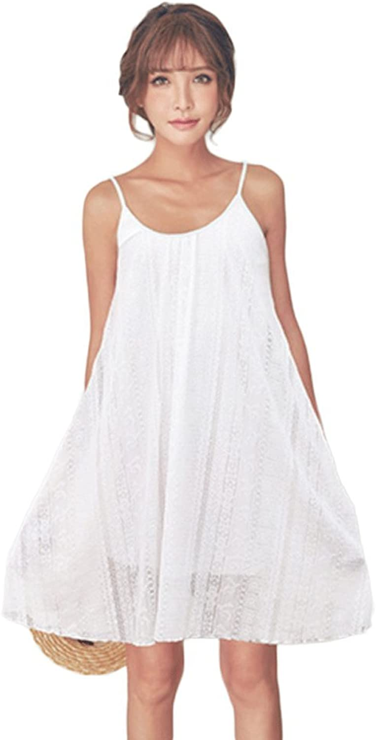 Summer new sexy sweet white sling skirt ( color   White , Size   XL )