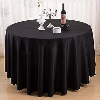 RONGER Ronde Nappe Polyester Nappe Nappe Couverture De Table Linge De Table Ronde Décoration Décoration Mariage Hôtel Mont...