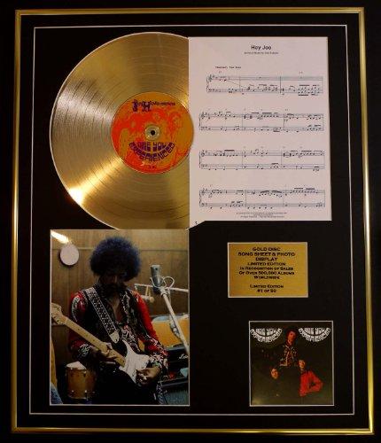 EC Jimi Hendrix/CD Gold DISC UND Photo UND Song Sheet Bildschirm/Limitierte Auflage/COA/Album, Are You Experienced/Song Sheet, Hey Joe