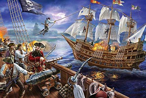 Barco Pirata navegando 1000 Piezas Puzzle Juego de Rompecabezas Rompecabezas para niñosAdultos Puzzle Animal paisajes Clásico Puzzle Navidad Halloween Juegos Puzzle Juguete Divertido