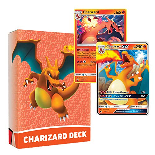Pokemon Charizard Deck | Ready to Play 60 Card Starter Deck | Includes Charizard GX | Perfect for Beginners Charizard Theme Deck | with Golden Groundhog Deckbox