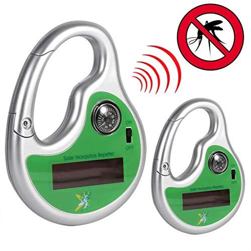 Draagbare ongediertebestrijder, anti vliegen, Pest, Mosquito, is zonne-energie, met haak en kompas, ultrasone muggen insecten doodt, voor Outdoor 2 stks Plug-in Insektenschutzmittel