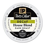 Peet's Coffee & Tea 6544 House Blend Decaf K-Cups, 22/box