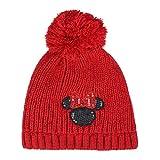 ARTESANIA CERDA Gorro Pompon Minnie Punto, Rojo (Rojo 28), One Size (Tamaño del Fabricante:One Size) Unisex Adulto