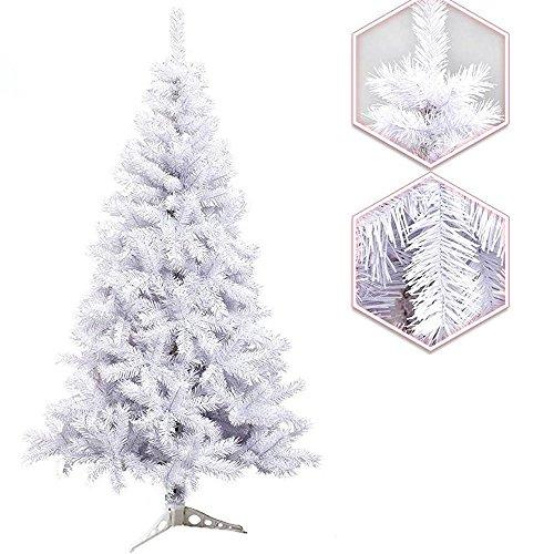 Hengda 120cm ca. 200 Albero di Natale artificiale Albero di Natale Albero di deco bianco con il basamento di plastica