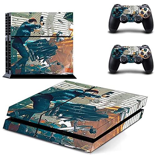TSWEET Pegatina de Piel Ps4 para Consola Playstation 4 y 2 Pieles de Controlador Pegatinas Ps4 de Vinilo