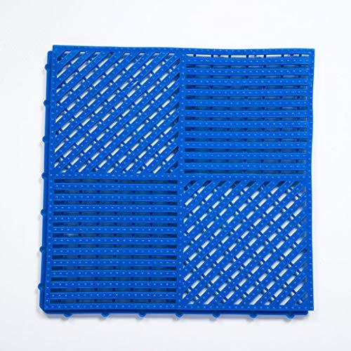 ZAQI Fussmatte Draussen Schmutzfangmatte Bodenmatte for Schwimmbaddusche Sauna SPA Badewanne Badewanne, Wasserablauf Nassboden Rutschhemmend Innen/Außen (Color : Blue 2)