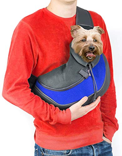 Cuddlissimo! Pet Sling Carrier - Small Dog Puppy Cat Carrying Bag Purse Pouch - For Pooch Doggy...