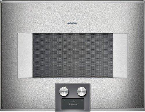 Gaggenau Einbauofen mit Mikrowelle BM 454 100 Farbe Anthrazit Edelstahl 60 cm