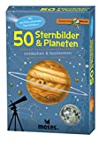 Moses 9740 Expedition Natur - 50 Sternbilder und Planeten| Bestimmungskarten im Set | Mit spannenden Quizfragen